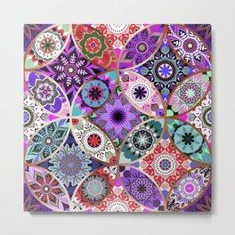 Moroccan bazaar   purple Metal Print