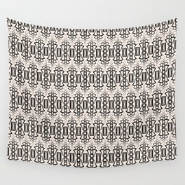 Art Deco 12 . Black and beige pattern . Wall Tapestry