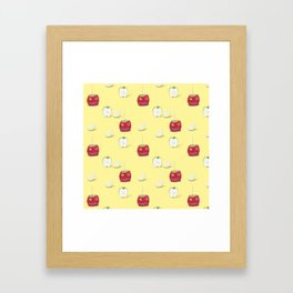 Toffee Apples Pattern Framed Art Print