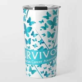 Survivor Ovarian Cancer Awareness Travel Mug