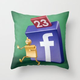Facebook pressure Throw Pillow