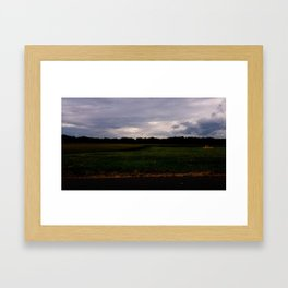 South Maple Cornfield Framed Art Print