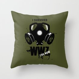 Zombie Wars Throw Pillow