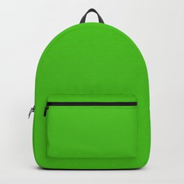 Solid Bright Onion Green Color Backpack