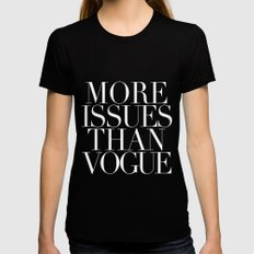 VOGUE {ISSUES} Womens Fitted Tee Black SMALL