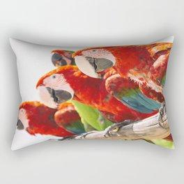 Red macaws Rectangular Pillow