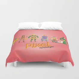 Dungeons and Dragons - Pixel Nostalgia Duvet Cover
