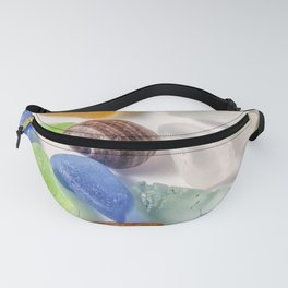 Tiny sea shell and Beach Glass Fanny Pack