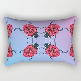 Lady Bug Mandala Rectangular Pillow