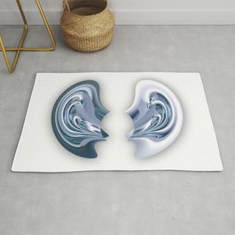I'm all ears - Abstract illustration Rug