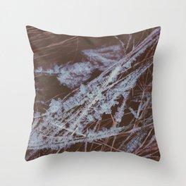 autumn breathes with winter Throw Pillow