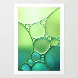 Jade Ombre Bubbles Art Print