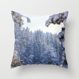Winter Wonderland - Awbrey Meadow in Central Oregon Throw Pillow