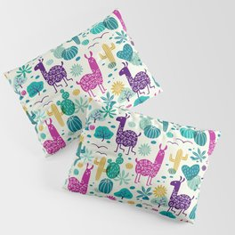 Llama desert turquoise/purple Pillow Sham