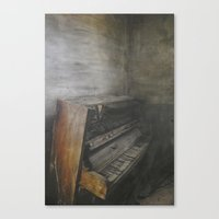 piano Canvas Prints featuring Piano by Claudia Ma