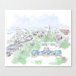 Washington Capitol Canvas Print