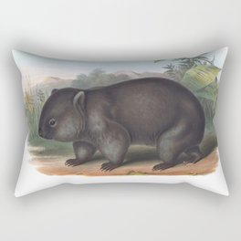 Wombat in the nature of Australia Rectangular Pillow