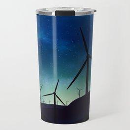 Palm Springs Windmills at Night Travel Mug
