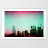 melbourne Art Prints featuring Melbourne by Campbell La Pun