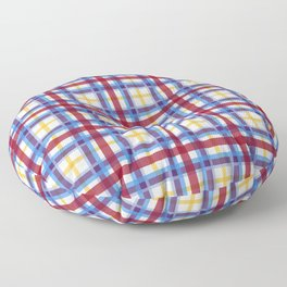 Marigold Plaid Floor Pillow