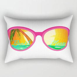 Beach Please - sun glasses for the beach Rectangular Pillow