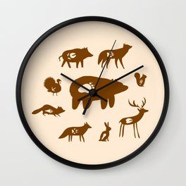 Nature Trail in Coffee and Cream Wall Clock
