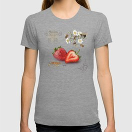 Strawberry and Pollinators T-shirt