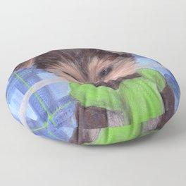 Yorkie Poo in Scarf Floor Pillow