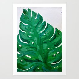 Monestera Art Print