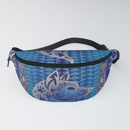 The Wolf (Blue) Fanny Pack