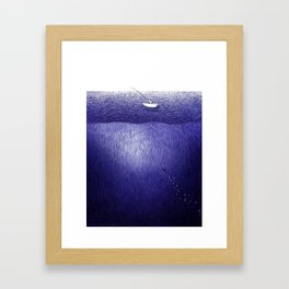 ballpoint pen ocean fishing Framed Art Print