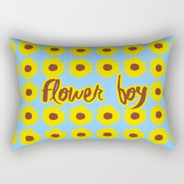 Sunflower Boy Rectangular Pillow