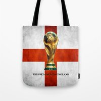 world cup Tote Bags featuring World Cup by Rothko