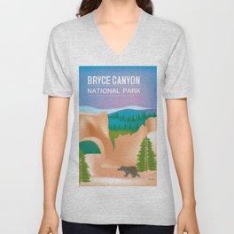 Bryce Canyon National Park, Utah - Skyline Illustration by Loose Petals Unisex V-Neck