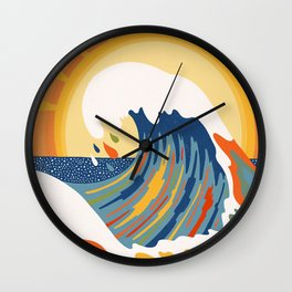 Colorful wave Wall Clock
