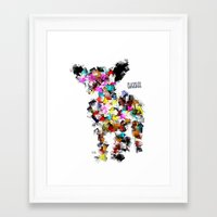 chihuahua Framed Art Prints featuring Chihuahua by bri.buckley