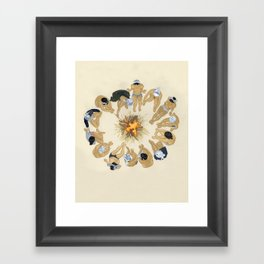 Finding Warmth Together Framed Art Print