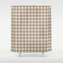 Buffalo Checks in Tan and Cream Shower Curtain