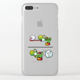 Farting Yoshi Clear iPhone Case