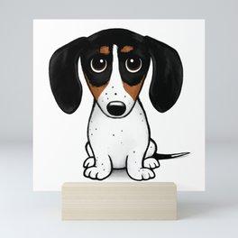 Piebald Dachshund | Cute Wiener Dog Puppy Mini Art Print