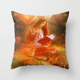 The Poetess Throw Pillow