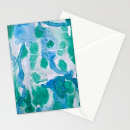 Blue and Green Wet on Wet Stationery Cards