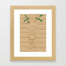 earth keeper Framed Art Print