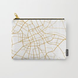 WARSAW POLAND CITY STREET MAP ART Carry-All Pouch
