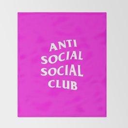 anti social club pink Throw Blanket