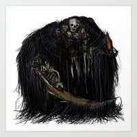 dark souls Art Prints featuring Gravelord Nito - Dark Souls by VerticalSynapse