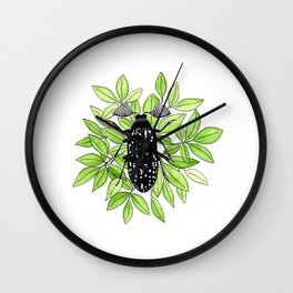Feather Horned Beetle Wall Clock