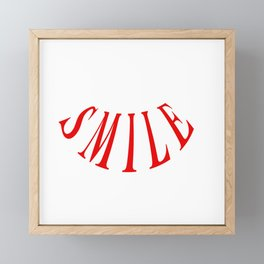 MAKE ME SMILE LOGO Framed Mini Art Print