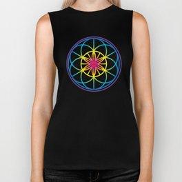 Sacred Symbols Rainbow Chakra Biker Tank