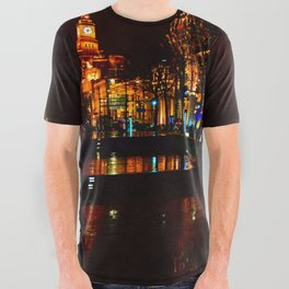 Shanghai 五 All Over Graphic Tee